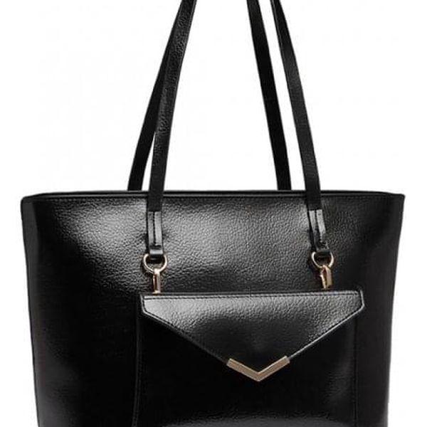 SET: Dámská černá kabelka Amie 19165
