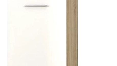 Šatní skříň Lima REG 1 bílá - dub sonoma