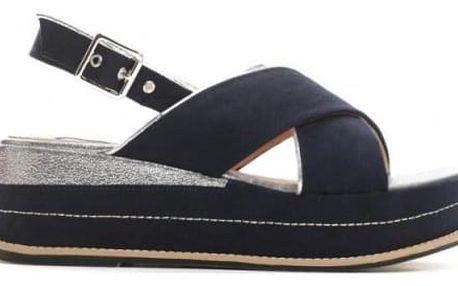 Dámské modré sandály na platformě Silvia 9212