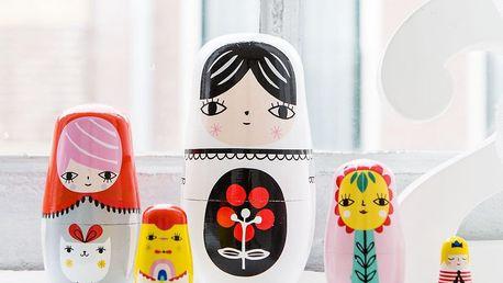 PETIT MONKEY Matrjoška Fleur & Friends, multi barva, dřevo