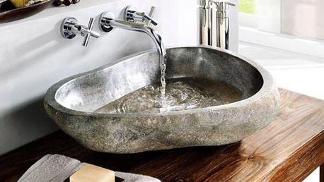 Indera The Lavabo Cut 55383 Umyvadlo z přírodního říčního kamene