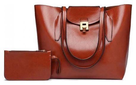 SET: Dámská hnědá kabelka Lady 1857