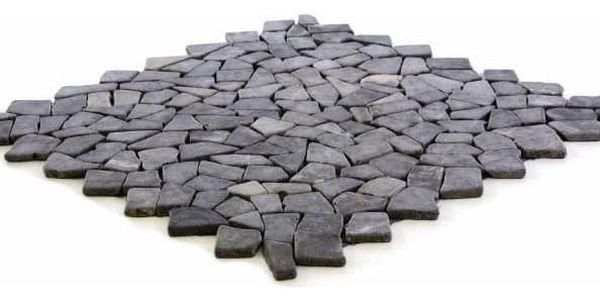 Divero Garth 678 Mramorová mozaika šedá obklady 1 m² - 55,5 x 55,5 cm2