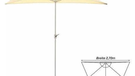 Garthen 6301 Půlkruhový zahradní slunečník - béžový, 2,7 m