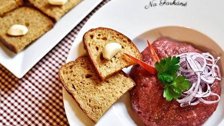 Restaurace na Farkáně - 30% sleva na veškeré jídlo včetně poledního menu v