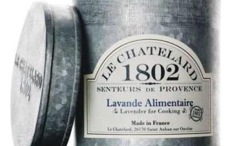 LE CHATELARD Sušená levandule na vaření v zinkové krabičce, šedá barva, zinek