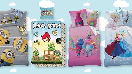 Dětské licenční povlečení s Angry Birds i Frozen