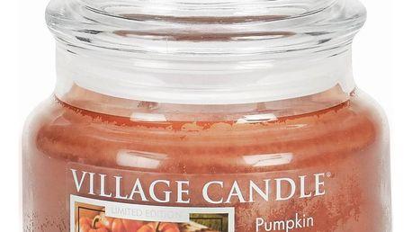 VILLAGE CANDLE Svíčka ve skle Pumpkin Bread - malá, oranžová barva, sklo, vosk