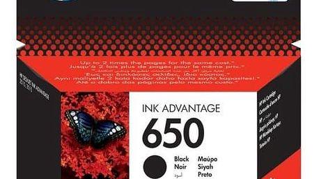 HP No. 650, 360 stran - originální černá (CZ101AE)