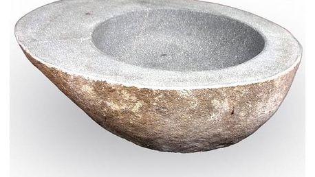 Indera The Lavabo Slice Avocado 57039 Umyvadlo z přírodního říčního kamene