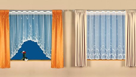 Záclony s ozdobnými okraji v 5 různých vzorech