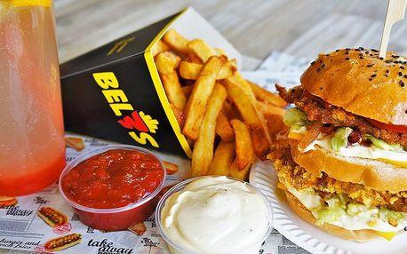 Burger či šťavnatá žebra s hranolky i omáčkou