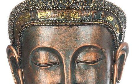 Socha Buddha hlava- bronzová