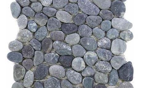 Divero Garth 968 Mozaika říční oblázky - šedá 1 m2 - 30x30x1,5 cm