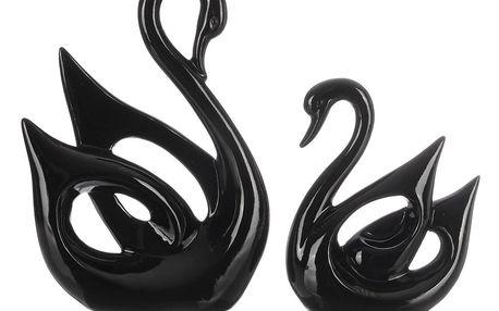 Designová socha dvou labutí