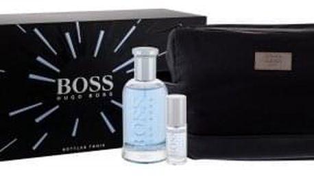 HUGO BOSS Boss Bottled Tonic dárková kazeta pro muže toaletní voda 100 ml + toaletní voda 8 ml + kosmetická taška