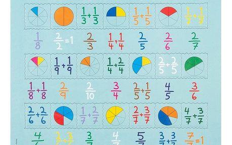 Larsen Puzzle Počítání zlomků, 35 dílků