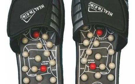 Akupresurní masážní pantofle suché zipy nanotextilie s magnety - SJH 314A vel. S, 38 - 39