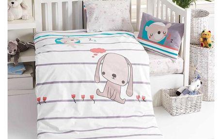 BedTex Dětské bavlněné povlečení do postýlky Sweety, 100 x 135 cm, 40 x 60 cm