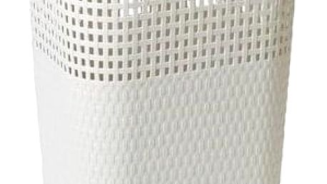 Ratanový koš na prádlo 60 l, bílá (slonová kost), ALDO RATTAN 3 patra