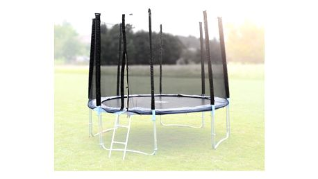 Ochranná síť na trampolínu 400 cm - PE- na 8 trubek- černá