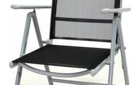 Garthen 1504 Hliníková skládací židle - černá