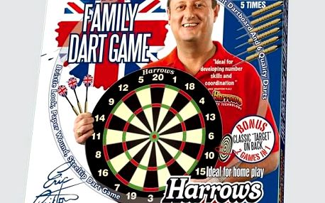 HARROWS Family Dart Game 39374 Sada terč a 6 ks šipek
