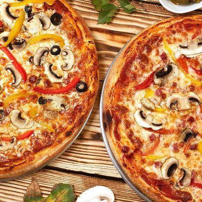 Dvě nebo čtyři pizzy o průměru 32 nebo 40 cm
