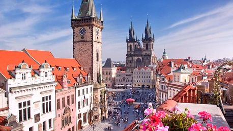Praha v hotelu do 30 min. od centra se snídaní a poukazem na večeři