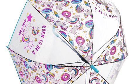 Deštník jednorožec průhledný - Born to be unicorn RST713A