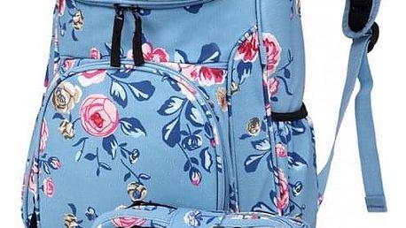 SET: Dívčí světle modrý školní batoh Lola 1743