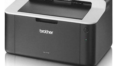 Brother HL-1112E černá/šedá A4, 21str./min, 2400 x 600, 1 MB, USB (HL1112EYJ1)