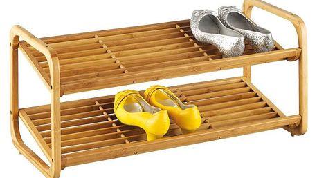 Bambusový stojan na boty, obuv, 2 úrovně, ZELLER