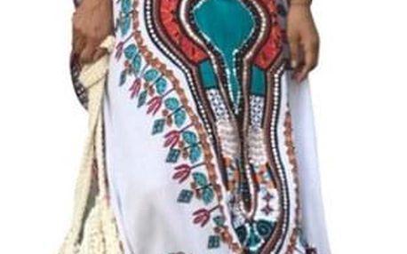 Ефирна плажна рокля с мотив