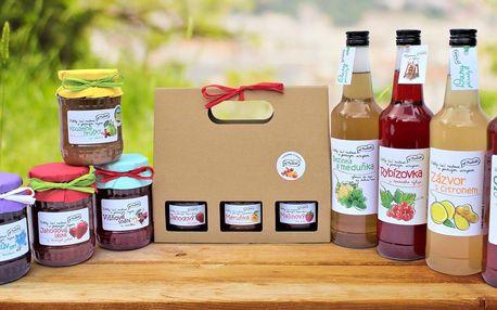 Ovocné džemy, pečené čaje a sirupy od Macháčků