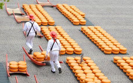 Holandsko: Za chutí sýrů, mlýny do Amsterdamu a Zaanse Schans