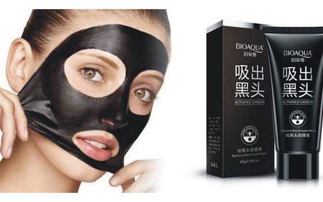 Černá pleťová maska Bioaqua v praktické tubě