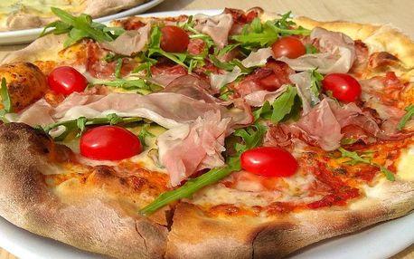 1–4 pizzy podle výběru z 10 druhů vč. dětské