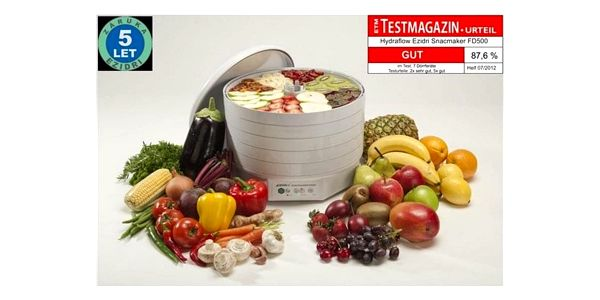 Sušička ovoce Ezidri FD 500 Snackmaker bílá2