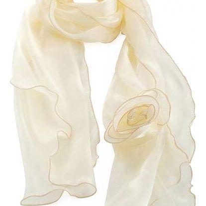 Dámský krémový šátek Celia 32055
