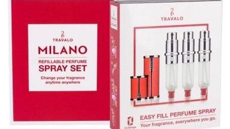 Travalo Milano 3x5 ml plnitelný flakón unisex Red