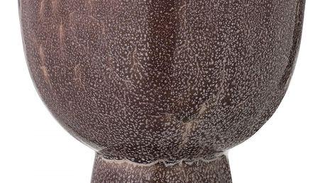 Bloomingville Žíhaný obal na květináč Brown, hnědá barva, keramika 15cmx15cm