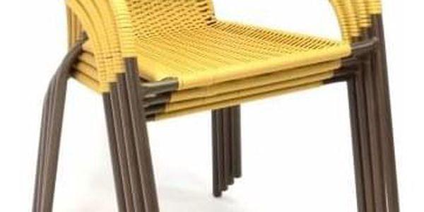 Garthen 35058 Zahradní bistro židle - stohovatelná, béžová4