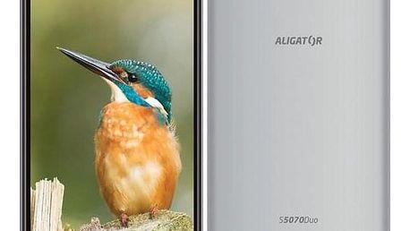 Aligator S5070 Dual SIM stříbrný (AS5070SR)