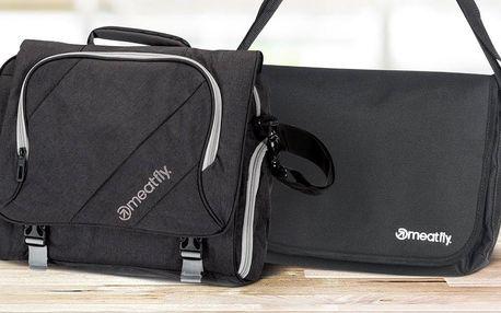Tašky Meatfly v černé barvě: 2 různé modely