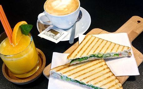 Snídaně podle výběru, káva a džus pro 1 i 2 os.