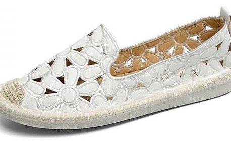 Dámské slip on boty s květy
