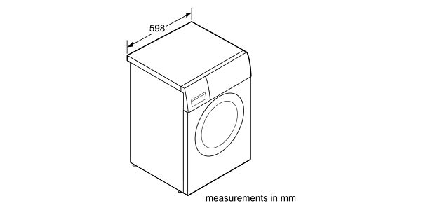 Automatická pračka Bosch WAN24060BY bílá2