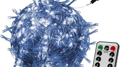 VOLTRONIC® 59735 Vánoční LED osvětlení 10 m - studená bílá 100 LED + ovladač