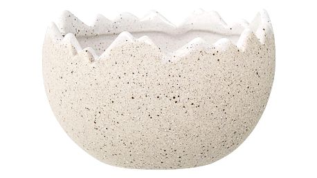 Bloomingville Velikonoční květináč Egg, béžová barva, krémová barva, keramika